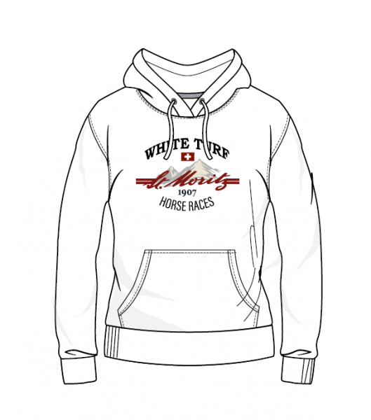 WHITE TURF Hoody Damen