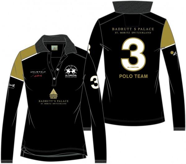 Piquet Langarm Polo BADRUTT'S PALACE Damen