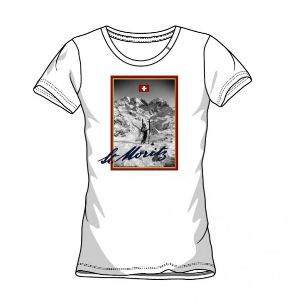 Retro T-Shirt Ski Damen