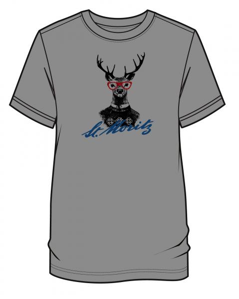 Hirsch T-Shirt Herren