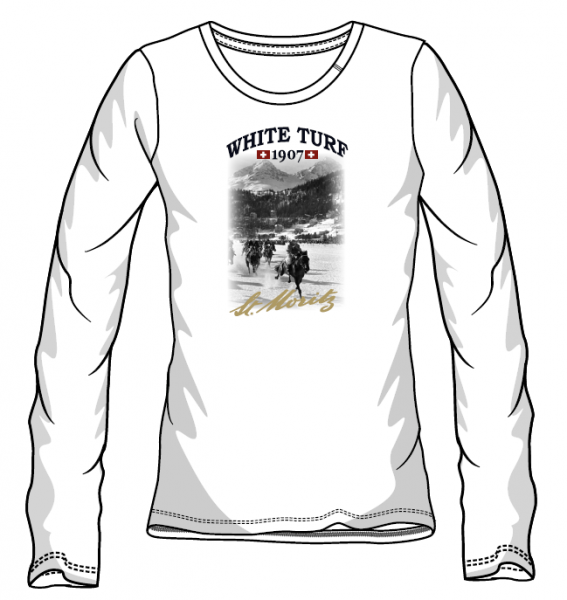 WHITE TURF Langarm T-Shirt Damen