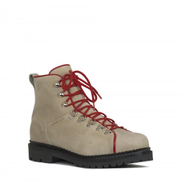 Retro Kandahar Fettleder Schuh