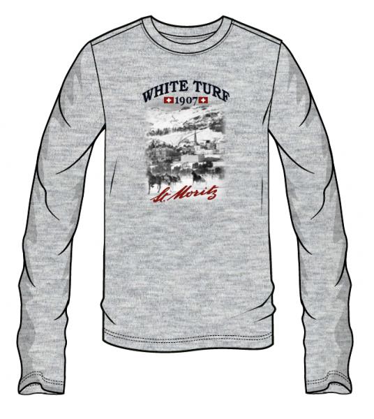 WHITE TURF Langarm T-Shirt Herren